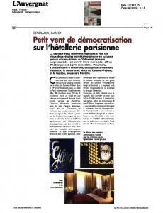 Hôtel Doisy - Espace Presse